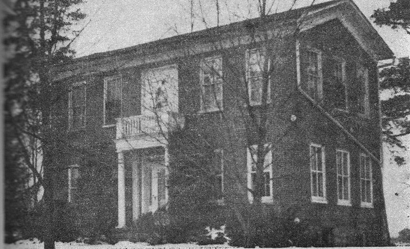 """""""The Old Brick,"""" Hughes home"""