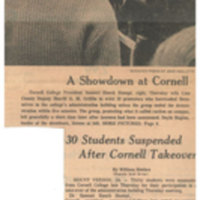 A Showdown at Cornell