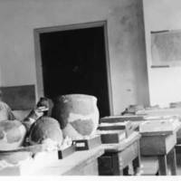 Charles Reuben Keyes with Pottery