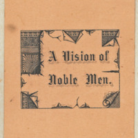A Vision of Noble Men 1891, cover