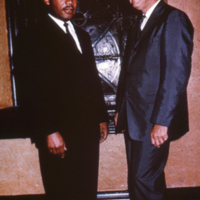 Martin Luther King, Jr. with Professor Wilbur West