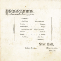 Programme, March 1892