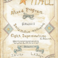 Mixed Program - Impersonations, 1893
